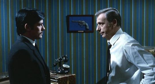 """Alain Delon et Yves Montand dans """"Le cercle rouge"""""""