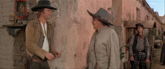 "Kris Kristofferson, Emilio Fernandez et Harry Dean Stanton dans ""Pat Garrett et Billy the Kid"""
