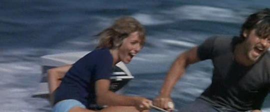 """Joanna Shimkus et Alain Delon dans """"Les Aventuriers"""""""