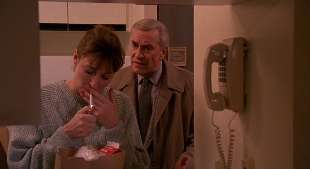 """Martin Landau et Angelica Huston dans """"Crimes et délits"""""""