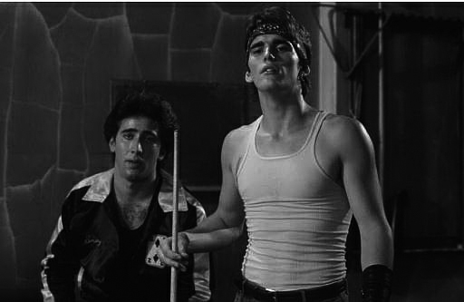 "Nicolas Cage et Matt Dillon dans ""Rusty James""."