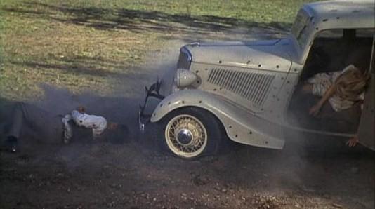 Scène de la mort de Bonnie and Clyde