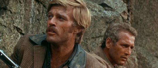 """Robert Redford et Paul Newman dans """"Butch Cassidy et le Kid"""""""