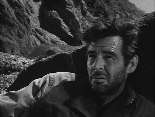 "Robert Ryan dans ""Côte 465"" (Men in War)"