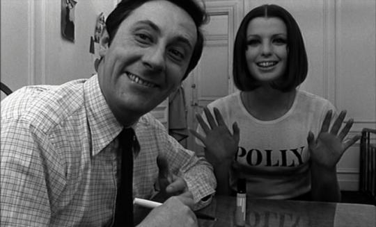 "Jean Rochefort et Dorothy Mac Gowan dans ""Qui êtes-vous Polly Maggoo ?"""