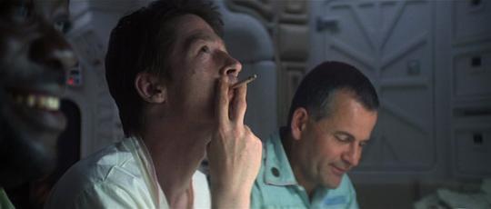 "John Hurt dans ""Alien"""