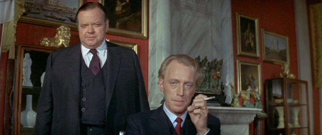 """Orson Welles et Max von Sydow dans """"La Lettre du Kremlin"""""""
