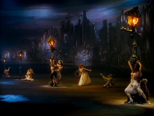 """Scène du ballet dans """"Les Chaussons rouges"""""""