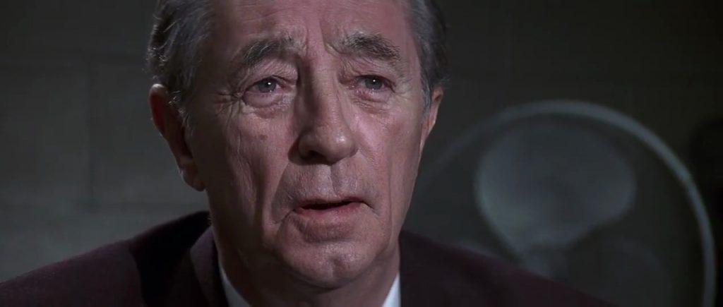 "Robert Mitchum dans ""Les Nerfs à vif"" (1991)"