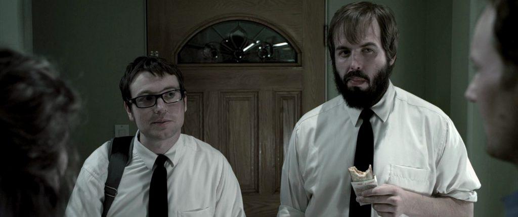 "Leigh Whannel et Angus Sampson dans ""Insidious"""