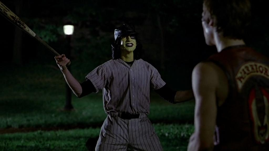 "Jery Hewitt danss ""The Warriors"" (""Les Guerriers de la nuit""). Scène des Baseball Furies."