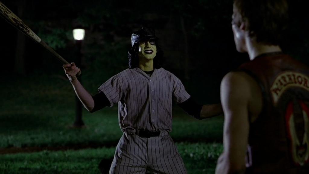 """Jery Hewitt danss """"The Warriors"""" (""""Les Guerriers de la nuit""""). Scène des Baseball Furies."""
