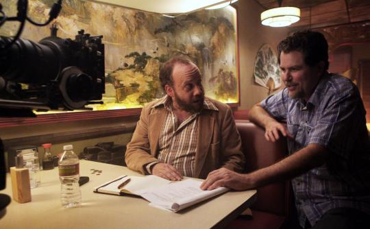 "Paul Giamatti et Don Coscarelli sur le tournage de ""John Dies at the End"""