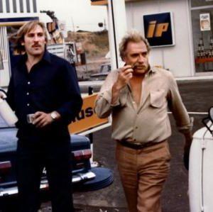 """Gérard Depardieu et Ugo Tognazzi dans """"Le Grand embouteillage"""""""