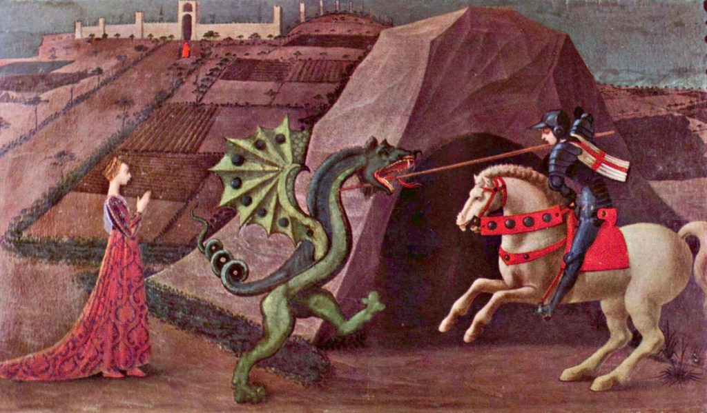 Saint Georges, la princesse et le dragon