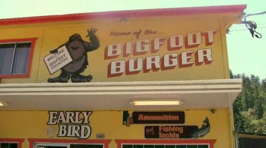 "Le Bigfoot Burger dans ""Willow Creek"""