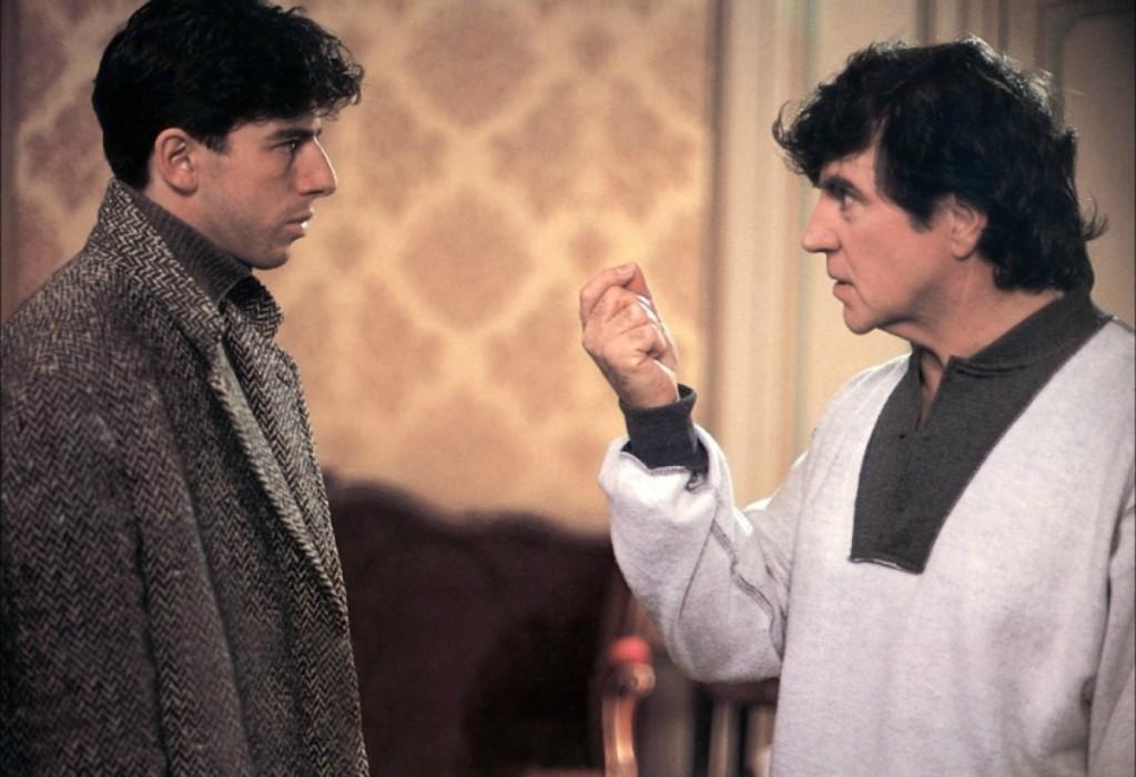 """Patrick Bruel et Alan Bates dans """"Force majeure"""" (1989)"""