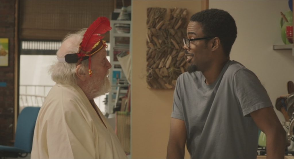 "Albert Delpy et Chris Rock dans ""Two Days in New York"""