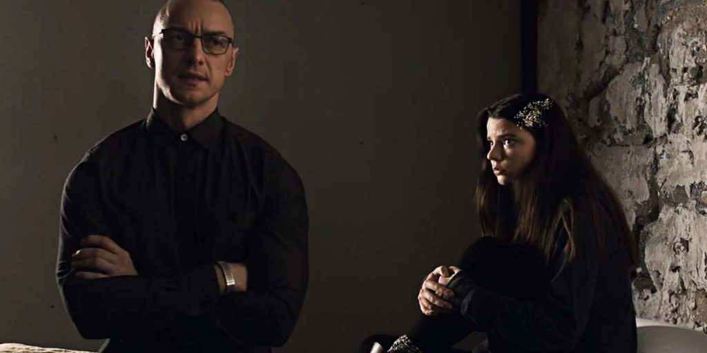 "James McAvoy et Anya Taylor-Joy dans ""Split"""