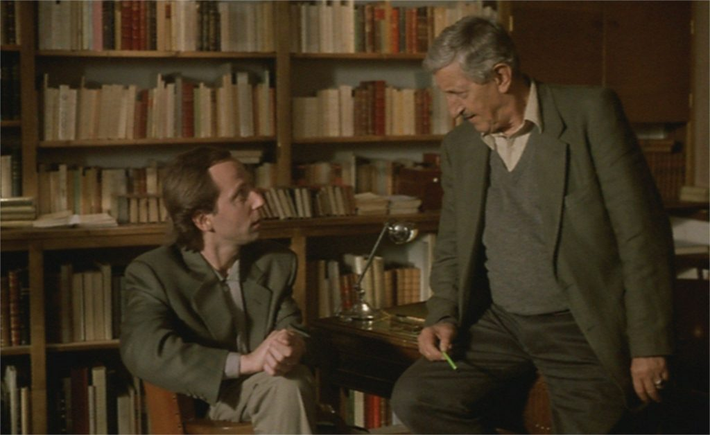 "Fabrice Luchini et Maurice Garrel dans ""La Discrète"""