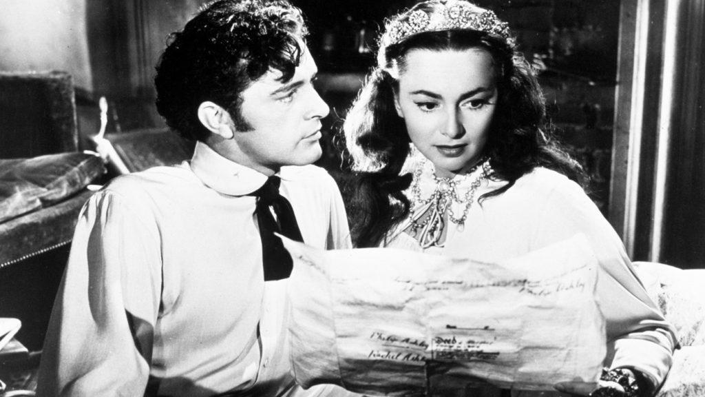 "Olivia de Havilland et Richard Burton dans ""Ma Cousine Rachel"" (1952)"