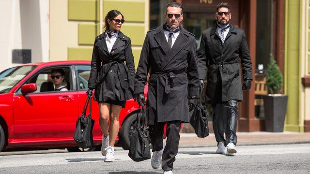 """Eiza González, Jon Hamm et Jon Bernthal dans """"Baby Driver"""""""