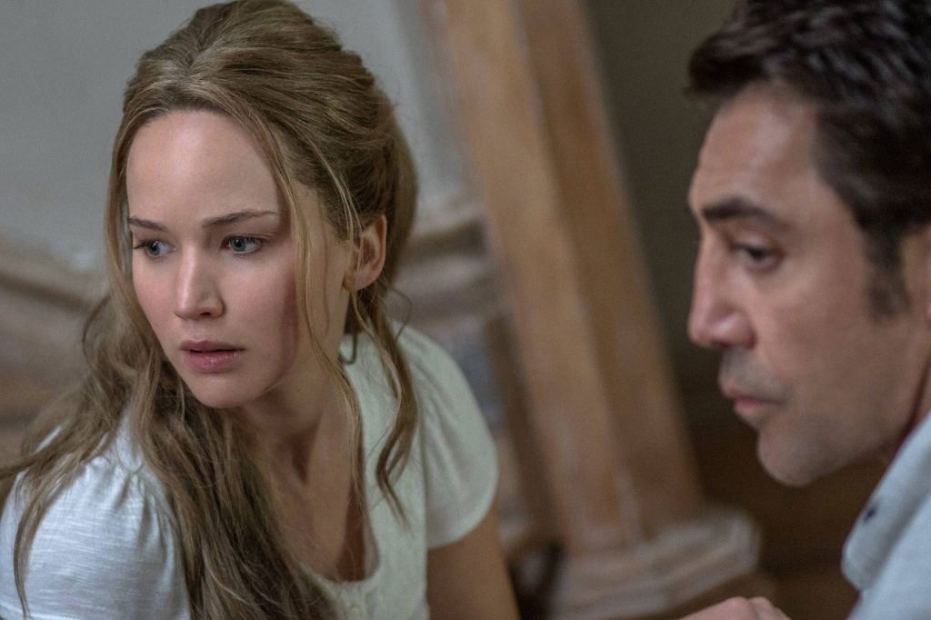 "Jennifer Lawrence et Javier Bardem dans ""Mother!"""