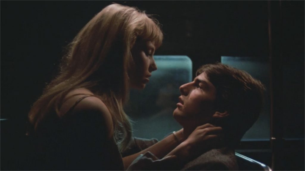 "Rebecca De Mornay et Tom Cruise dans ""Risky Business"""