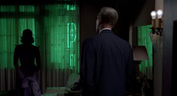 "James Stewart et Kim Novak dans ""Sueurs froides"" (""Vertigo"")"