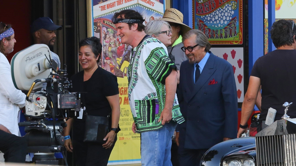 """Quentin Tarantino et Al Pacino sur le tournage de """"Once Upon a Time in Hollywood"""""""