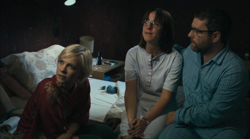 """Laura Harris, Claudie Blakley et Andy Nyman dans """"Severance"""""""