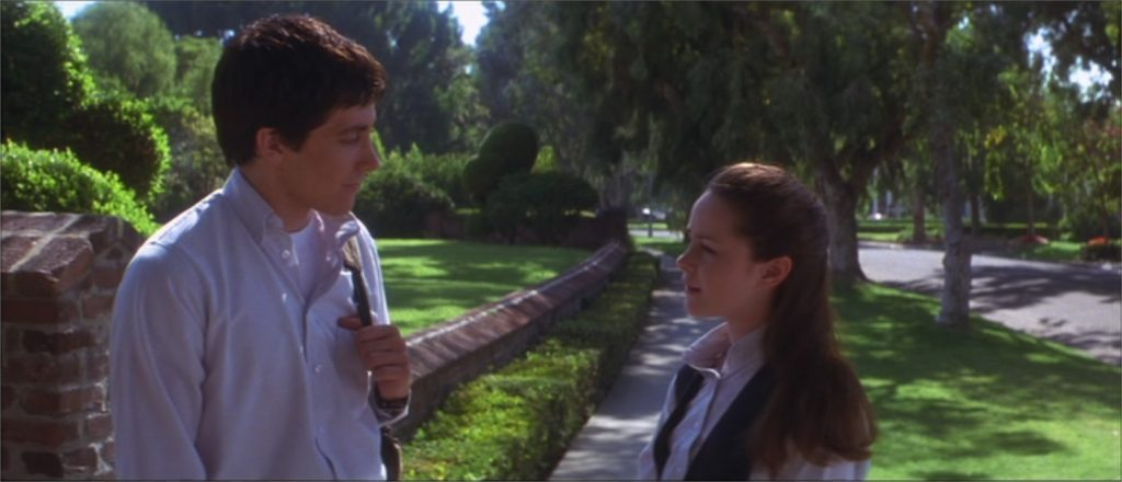 "Jake Gyllenhaal et Jena Malone dans ""Donnie Darko"""