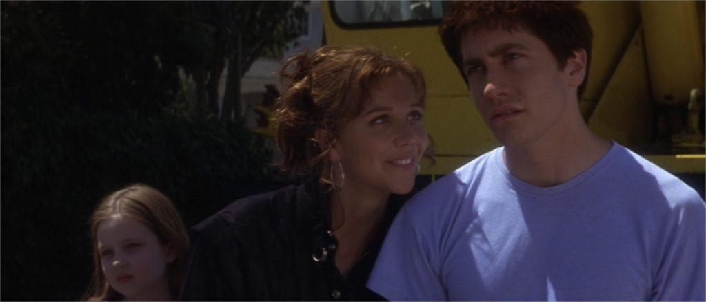 """Daveigh Chase (à gauche), Maggie et Jake Gyllenhaal dans """"Donnie Darko"""""""