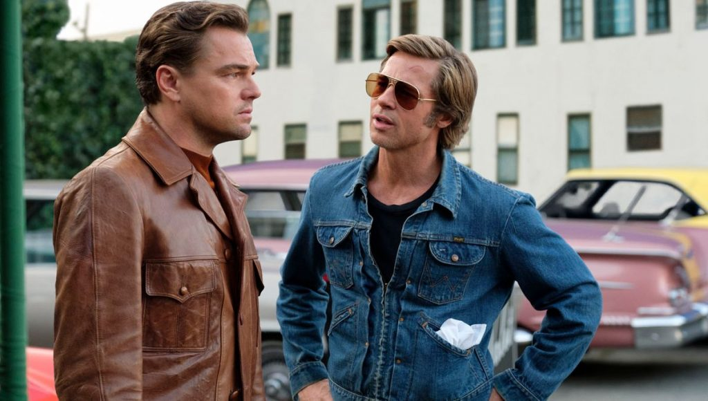 "Leonardo DiCaprio et Brad Pitt dans ""Once Upon a Time in Hollywood"""