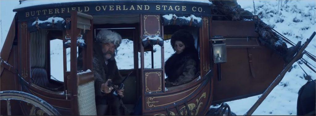 Kurt Russell et Jennifer Jason Leigh dans Les Huit salopards
