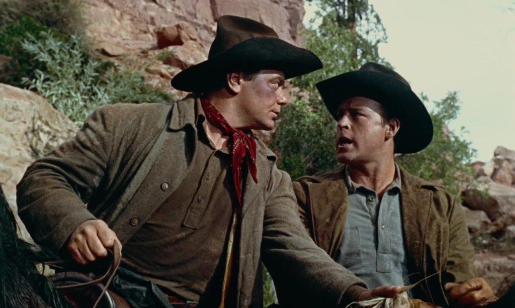 Ernest Borgnine et Scott Brady dans Johnny Guitare