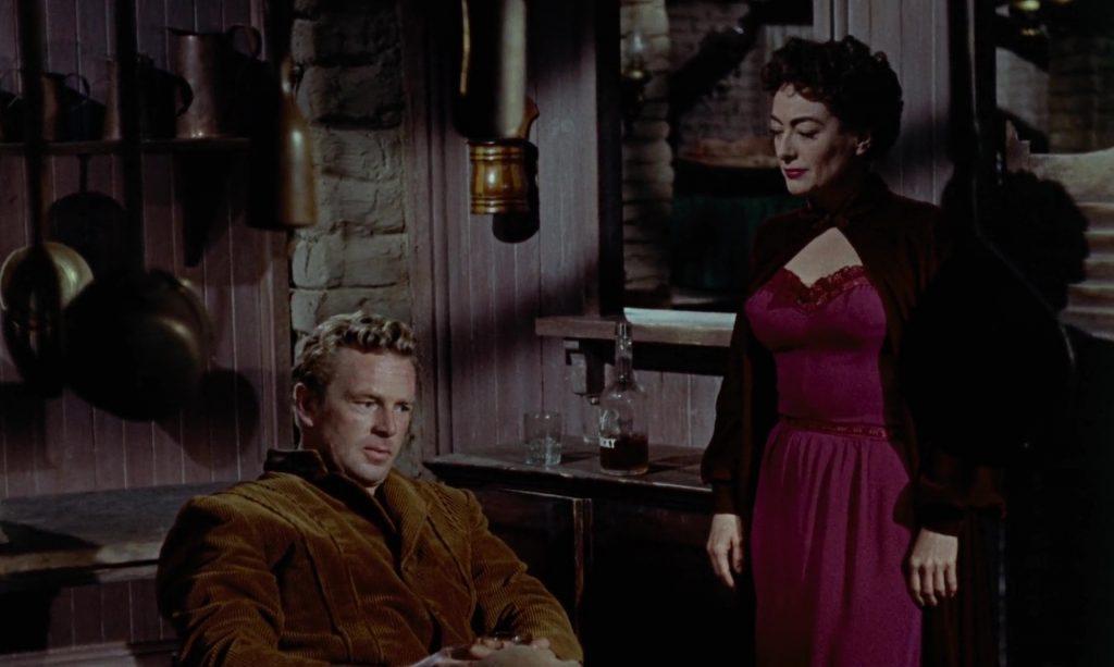 Sterling Hayden et Joan Crawford dans Johnny Guitare