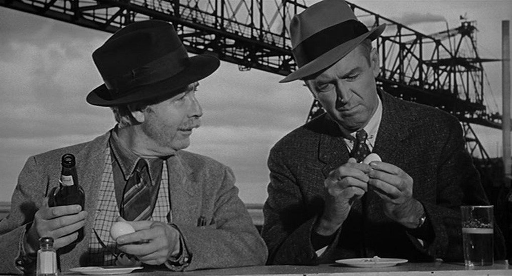 Arthur O'Connell et James Stewart dans Autopsie d'un meurtre