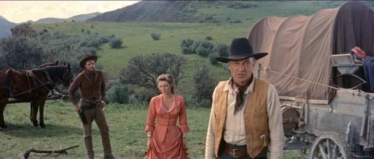 """Gary Cooper, Julie London et Jack Lord dans """"L'Homme de l'Ouest"""""""